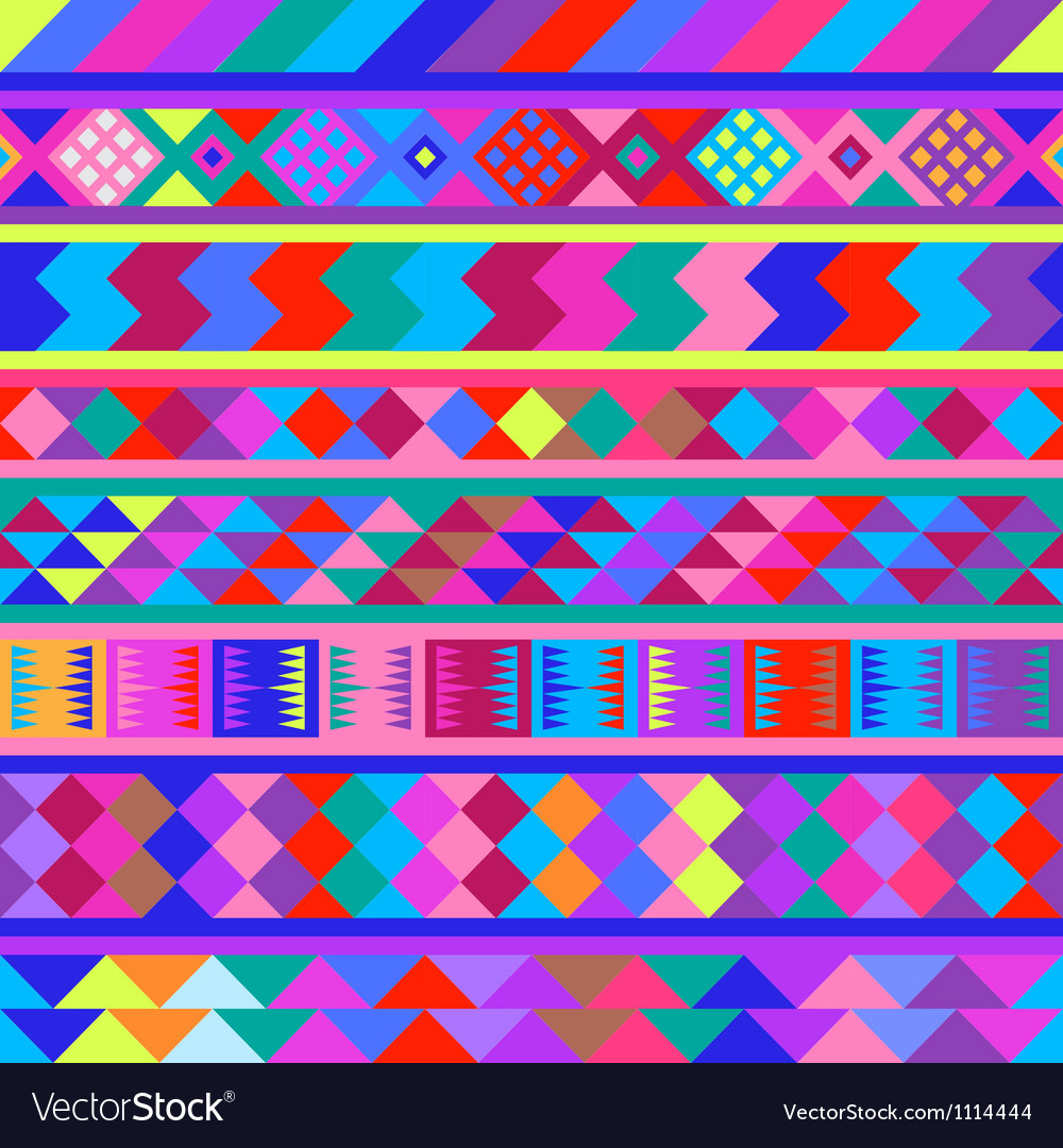 Seamless peruvian texture Eps8 image Vector Image