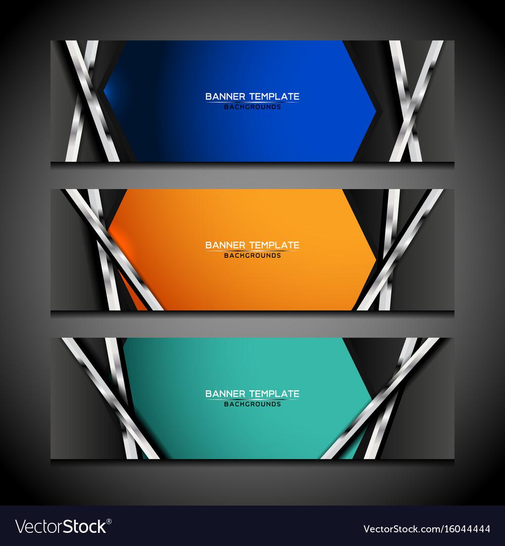Banner background modern design vector image