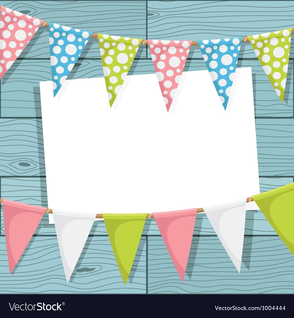Bunting decoration vector image