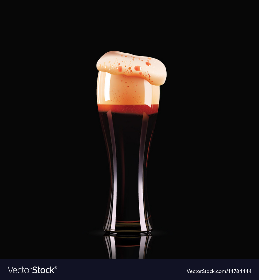 Elegant beer glass photo-realistic vector image