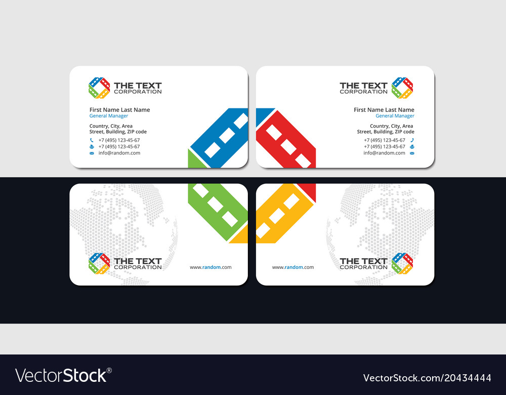 Entertainment business card Royalty Free Vector Image