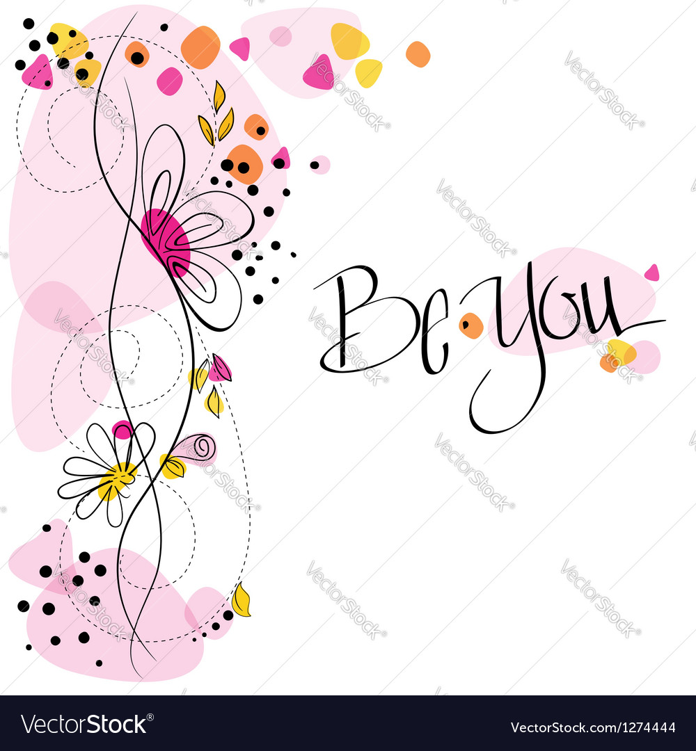 Floral card EPS 10 vector image