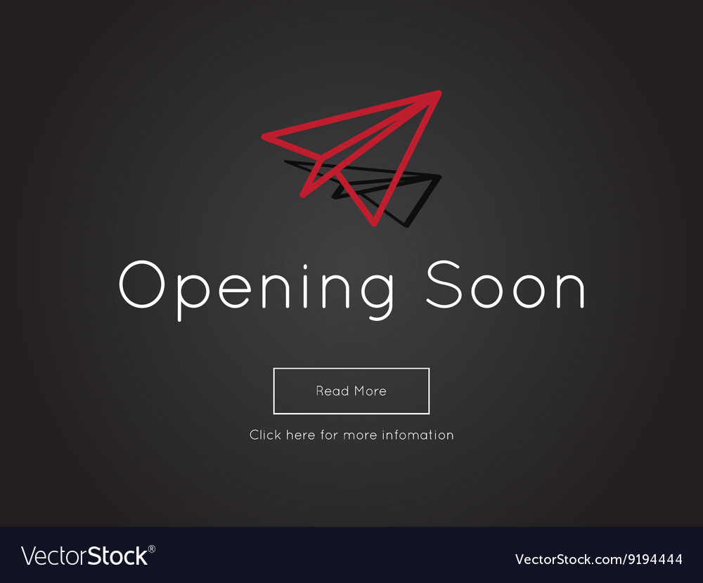 Opening Soon for website template Royalty Free Vector Image