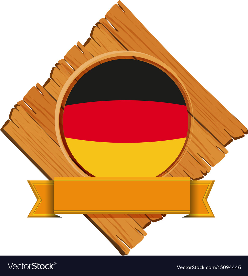 Flag of germany on wooden board vector image