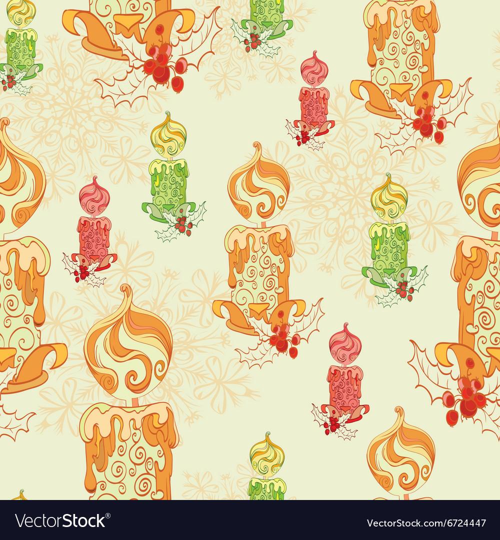 Christmas Lit Candles Light Festive vector image
