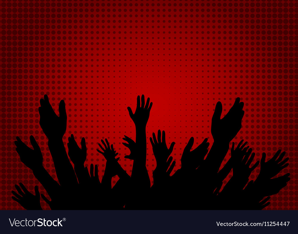 Hands Raised Up - Symbol of Freedom the Choice vector image