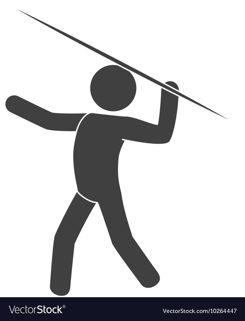 Lance man move vector image