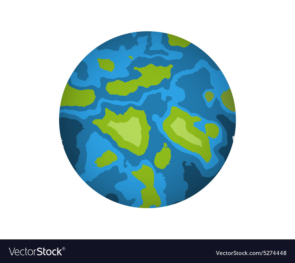 Global Earth icon isolated on white vector image