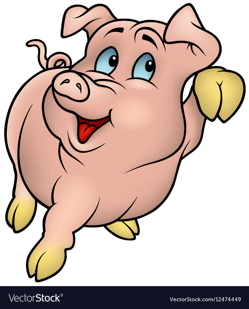 Smiling Pink Piggy vector image