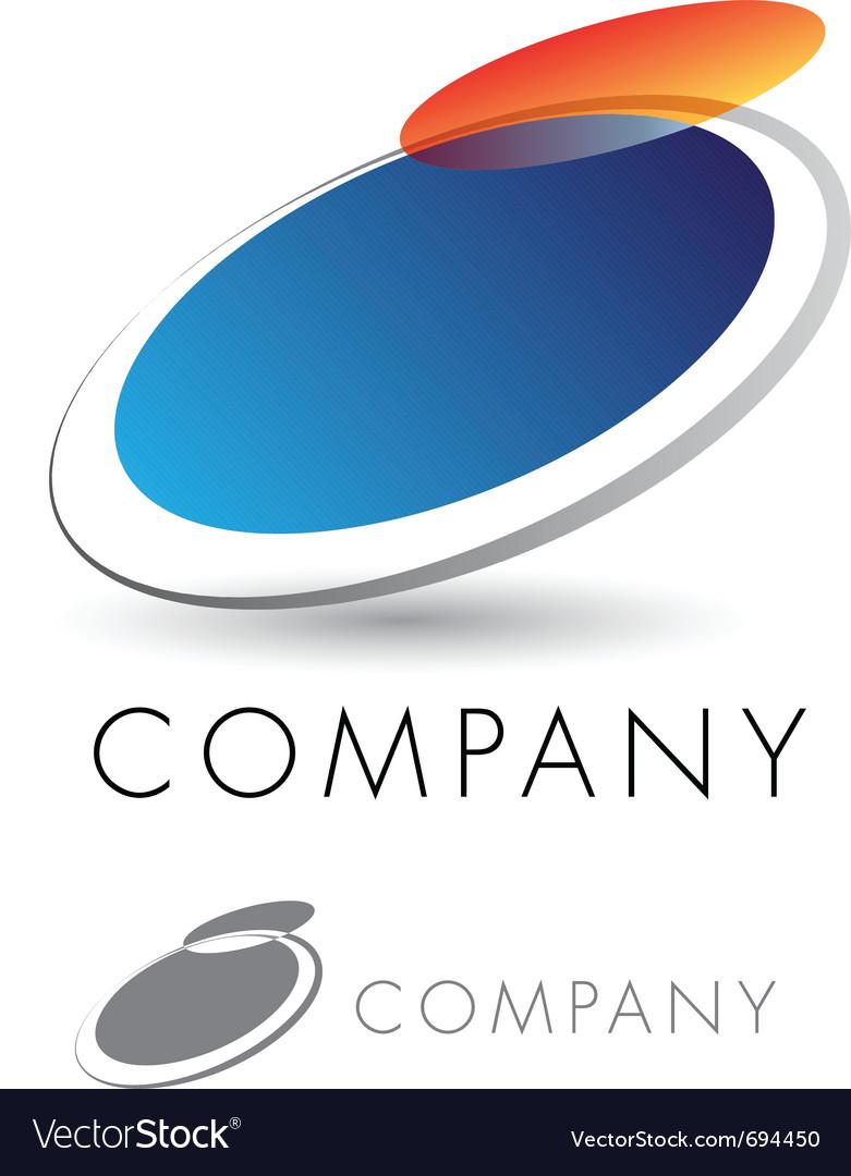 Modern and elegant corporate emblem Vector Image