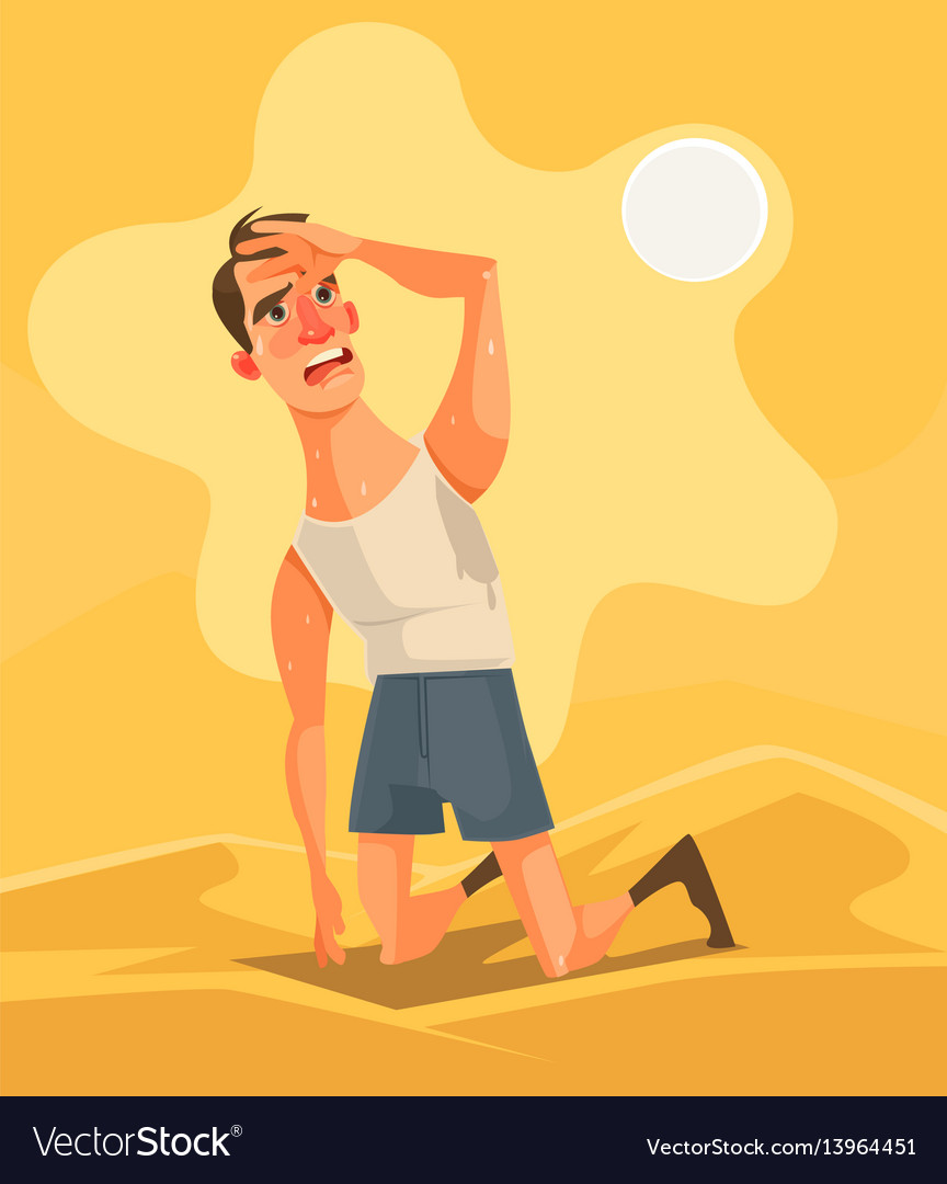 Hot weather and summer day vector image
