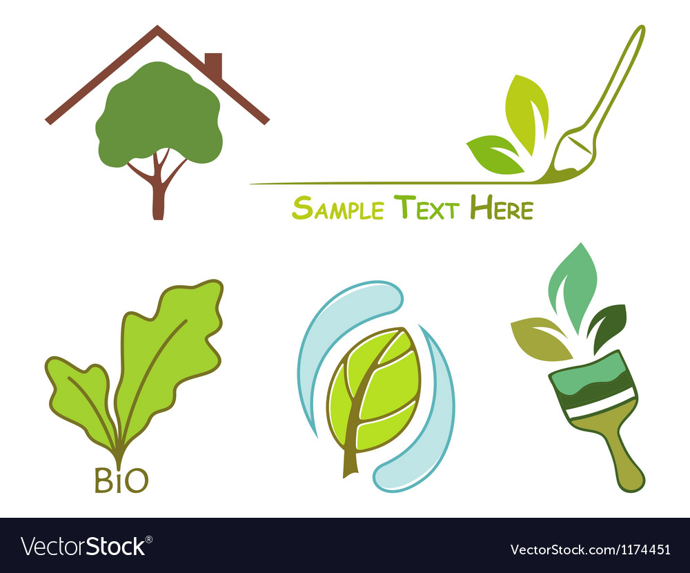 Icons for wood protection vector image