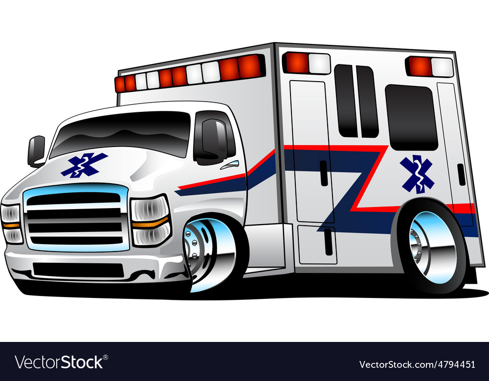 White Paramedic Ambulance Rescue vector image