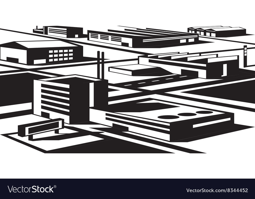 Industrial and economic zone vector image