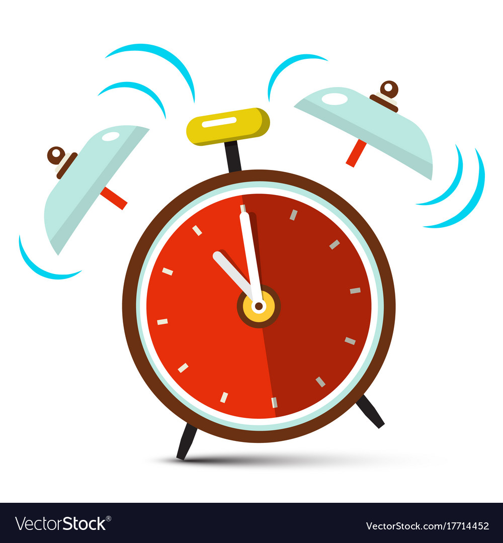 Ringing alarm clock icon vector image