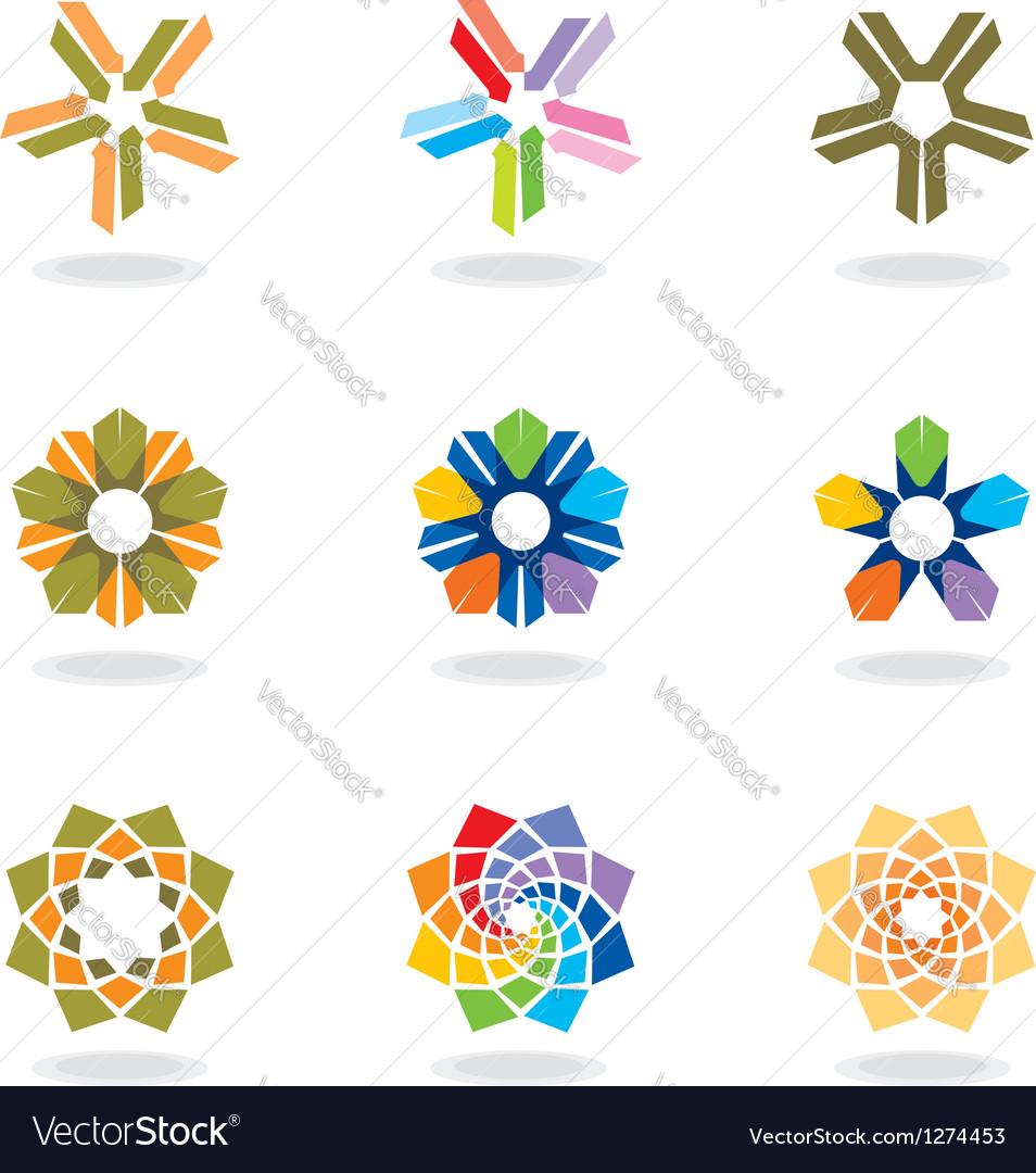 Corporate design elements vector image