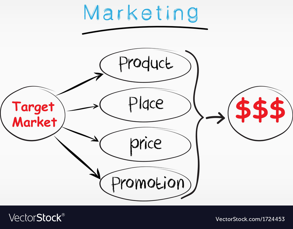 Marketing plan vector image