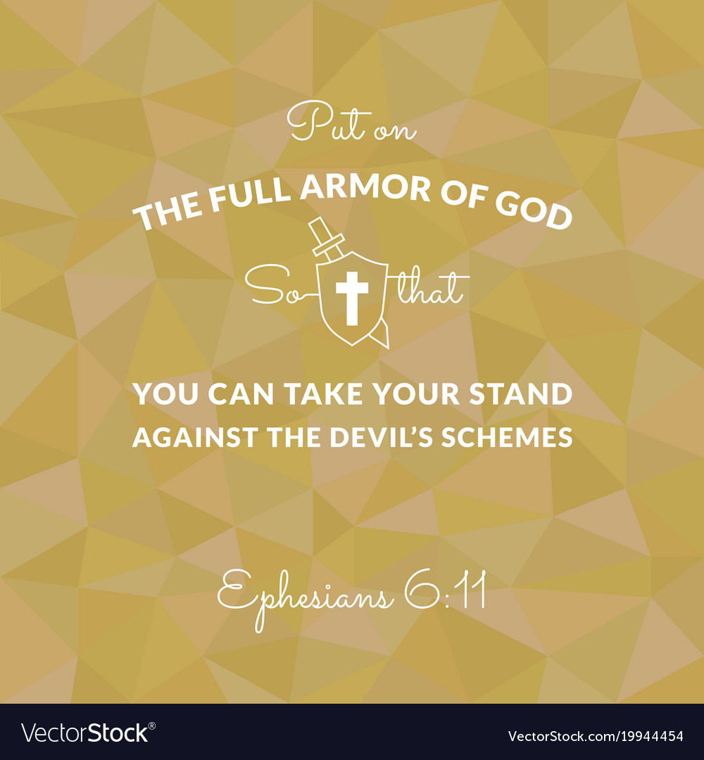Bible verse from ephesians on polygon background vector image