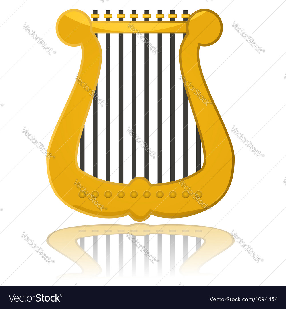 Cartoon harp vector image