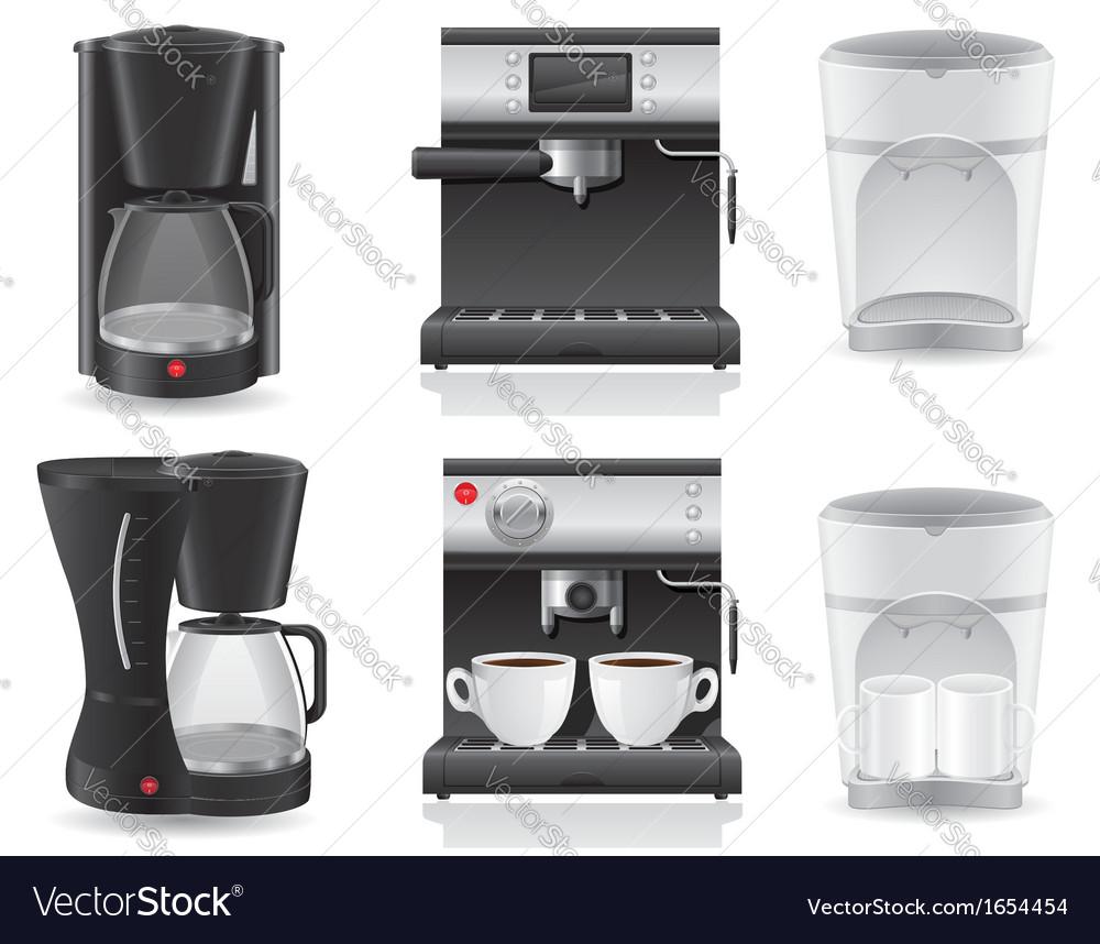 Coffee maker 07 vector image