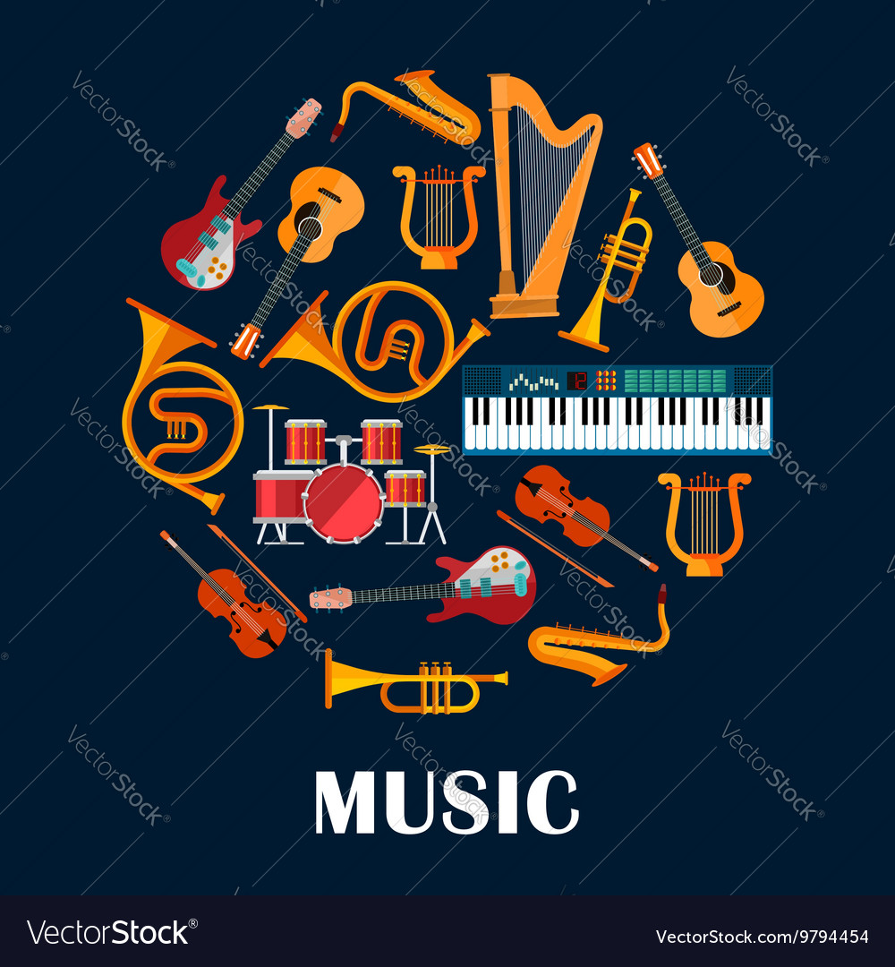 Musical instruments and sound equipment vector image