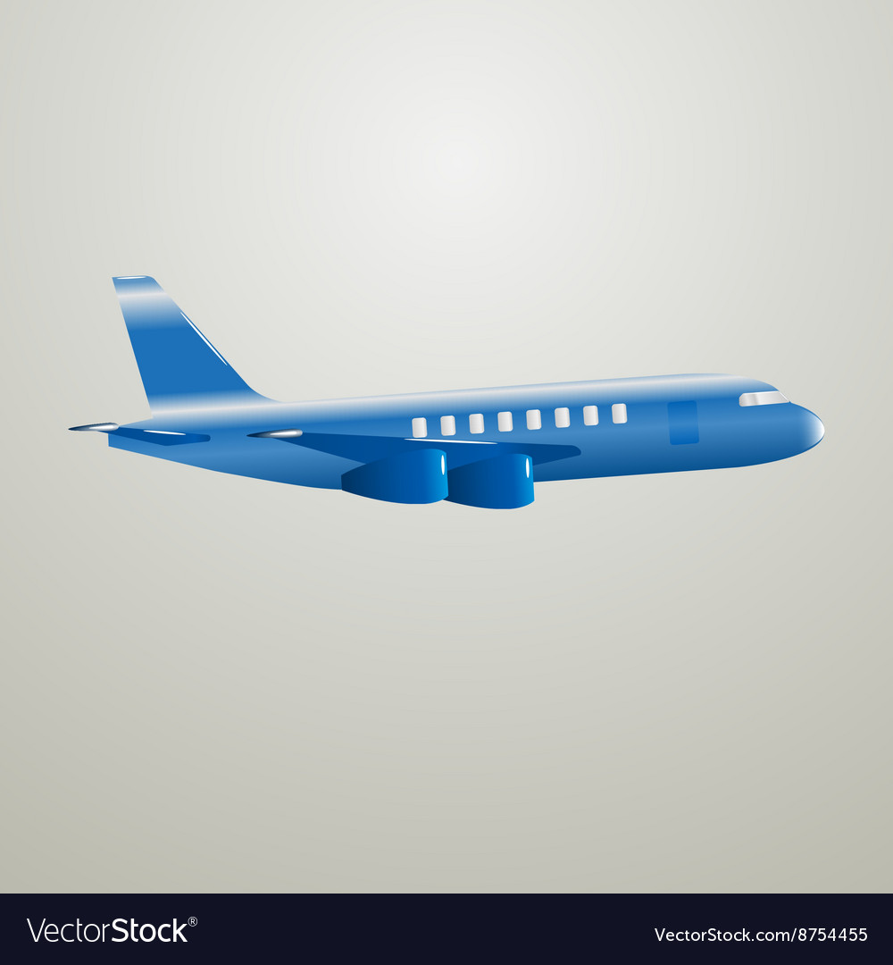 Blue aircraft vector image