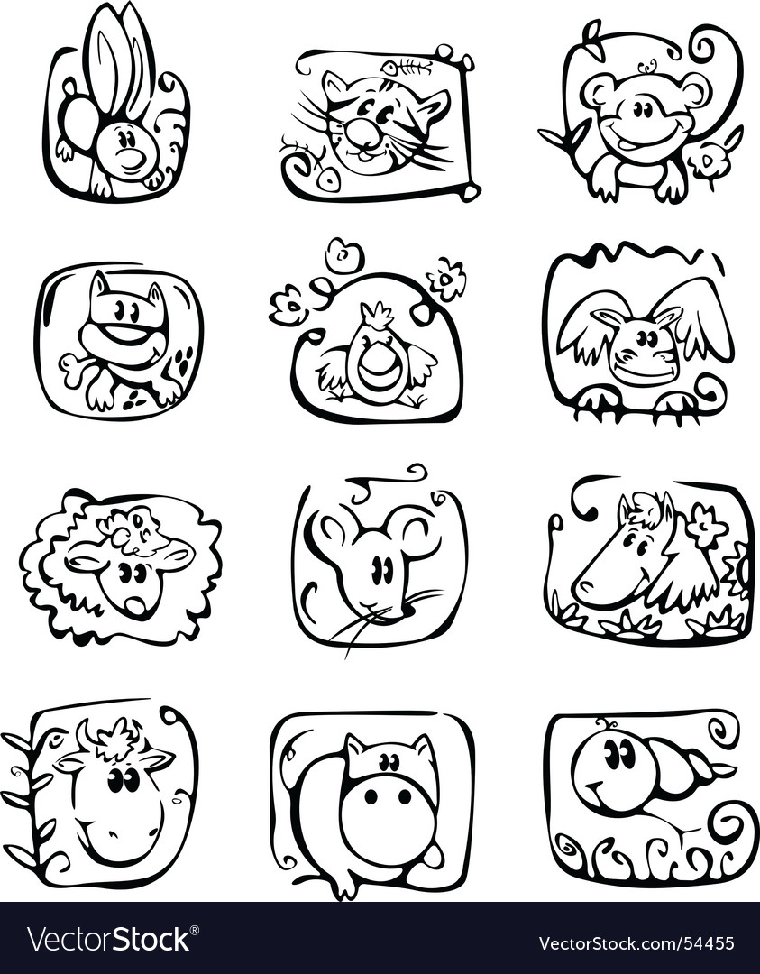 Horoscope characters vector image