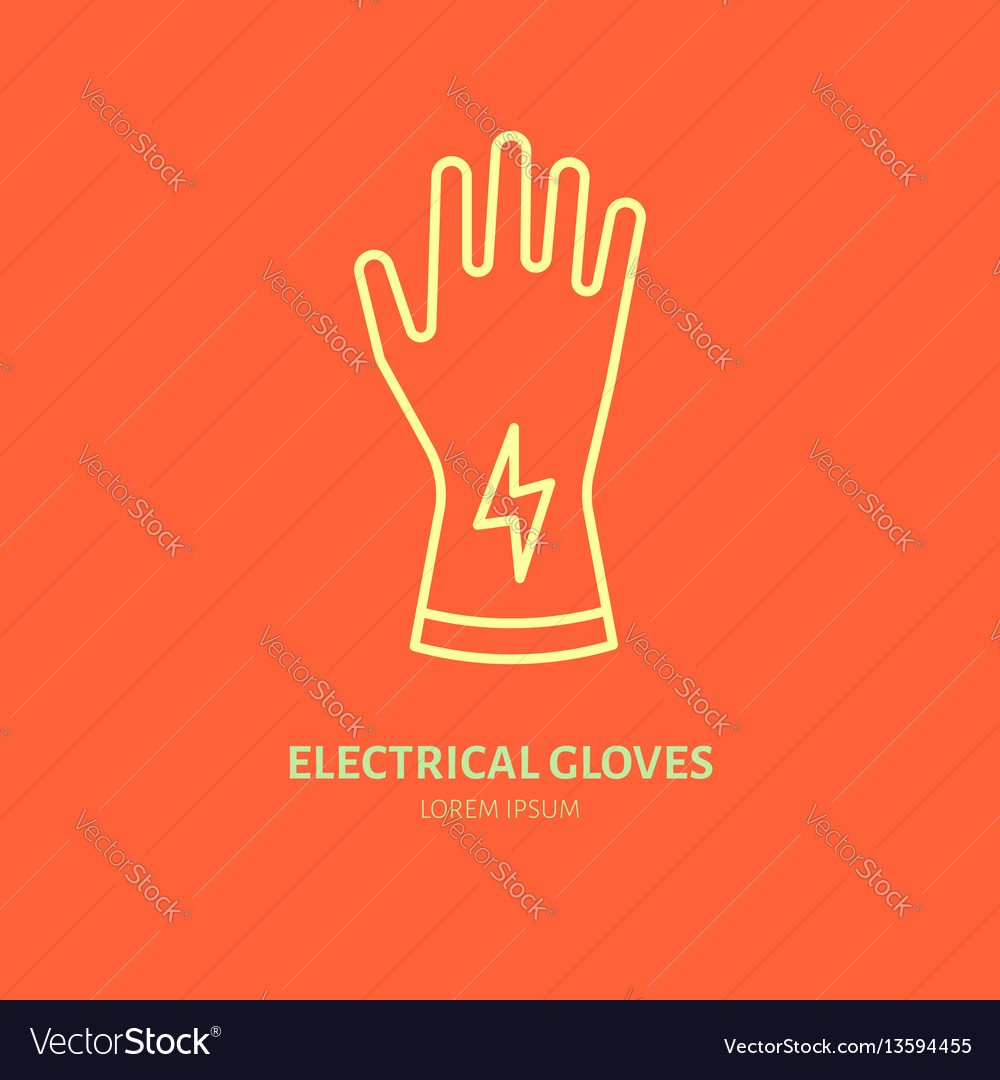 Safety gloves hand protection flat line icon vector image safety gloves hand protection flat line icon vector image biocorpaavc
