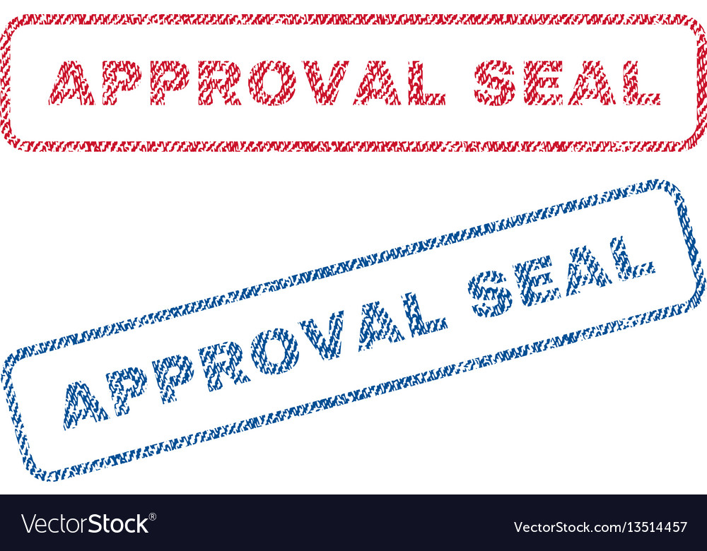 Approval seal textile stamps vector image