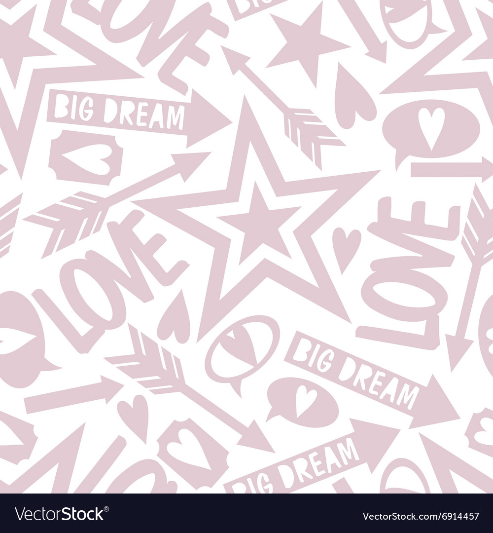 Inscription love big dream vector image