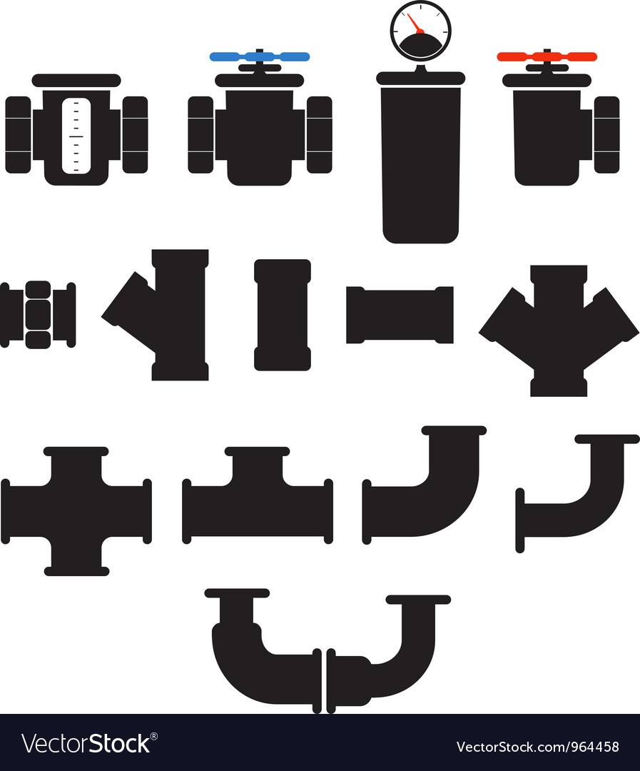 Tube elements collection vector image