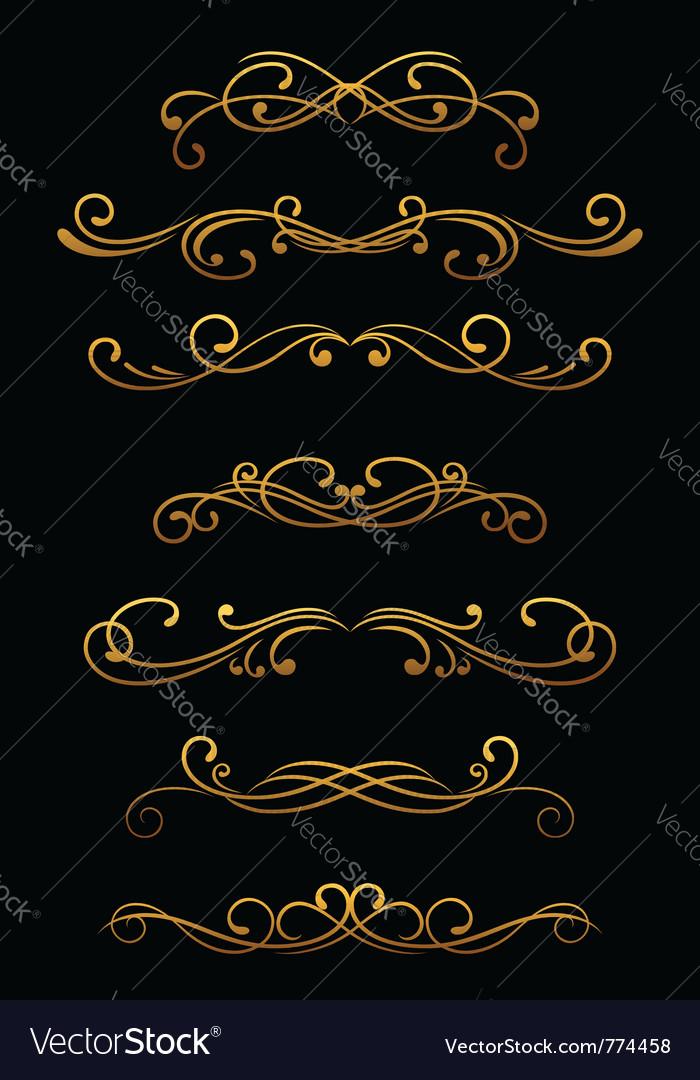Vintage ornamental borders vector image