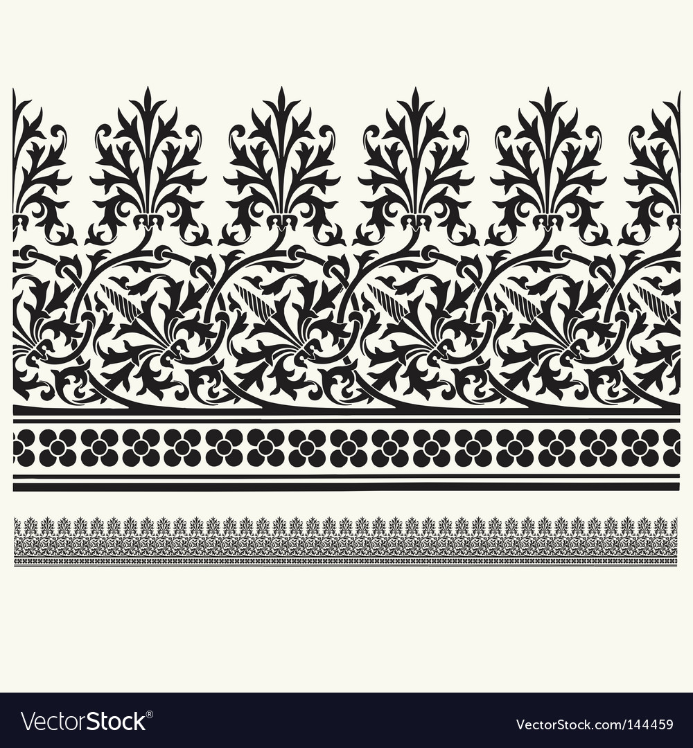 Thorn border element vector image