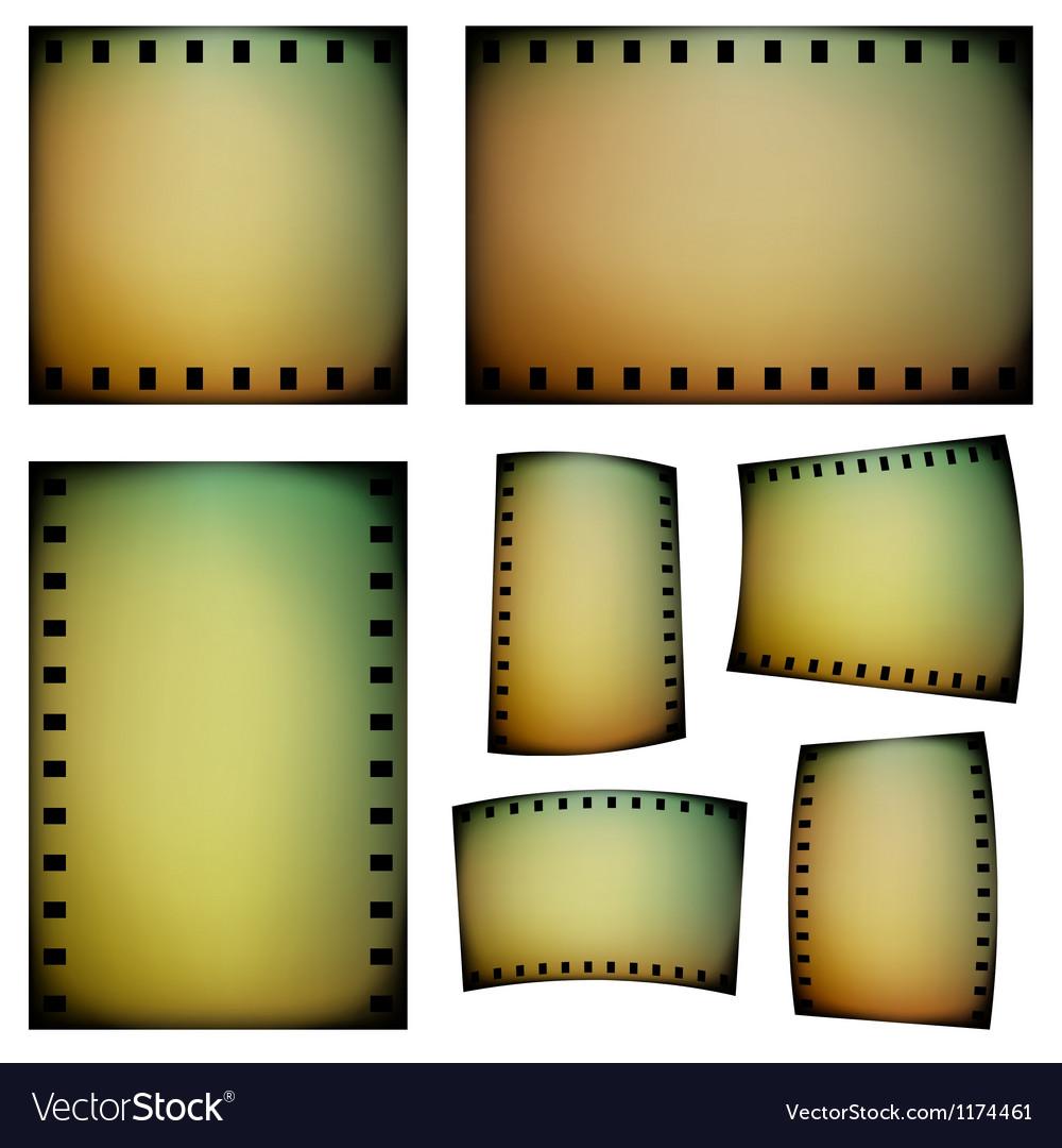 Negative film templates vector image