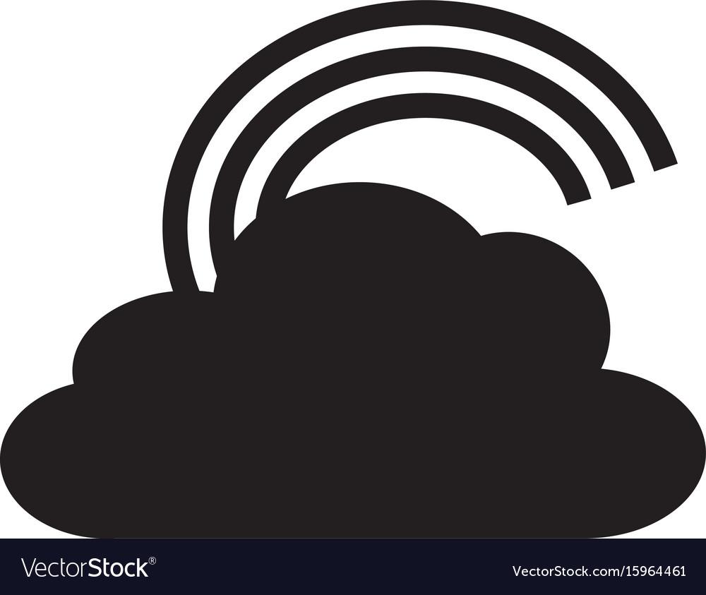 Rainbow icon on white background rainbow sign vector image