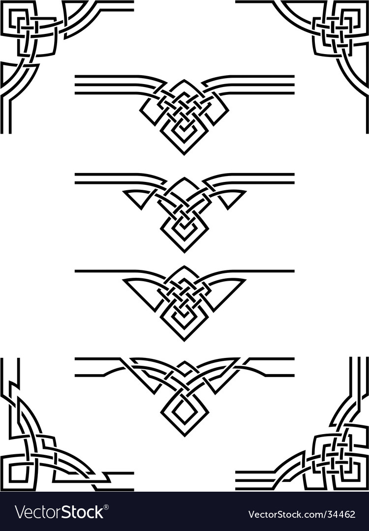 Ornament set Vector Image