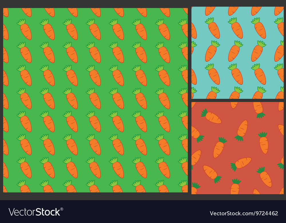 Carrot pattern for kids summer background vector image