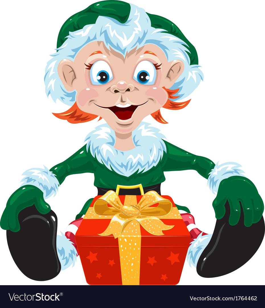 Christmas gnome vector image