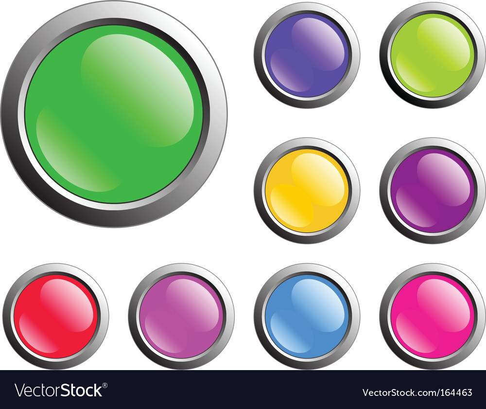 Buttons web vector image