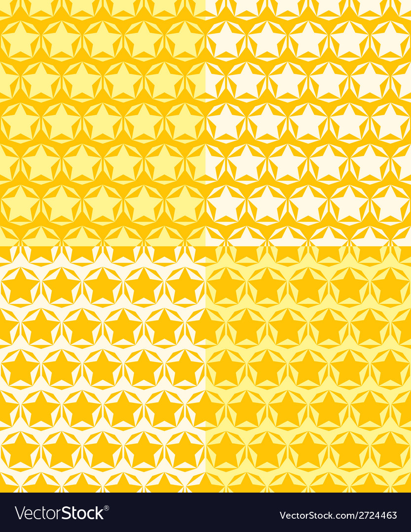 Set of seamless patterns of stars vector image