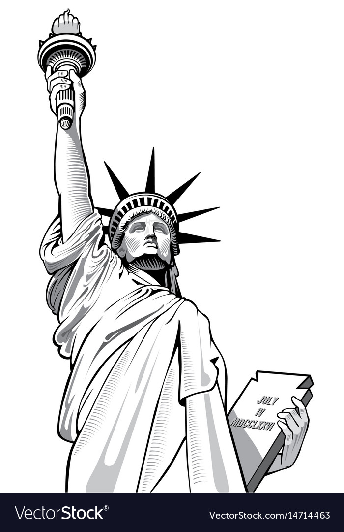 Statue of liberty new york city usa symbol vector image