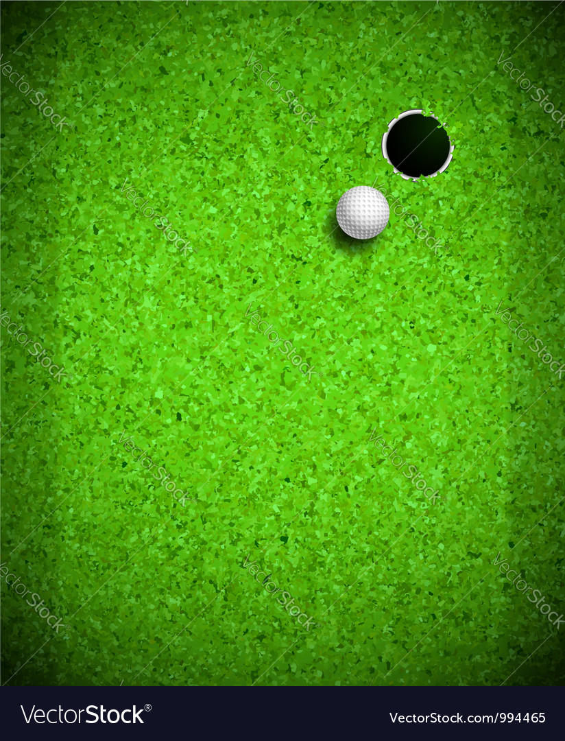 Playing Golf vector image