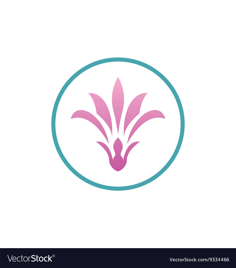 Beauty flower woman abstract logo vector image