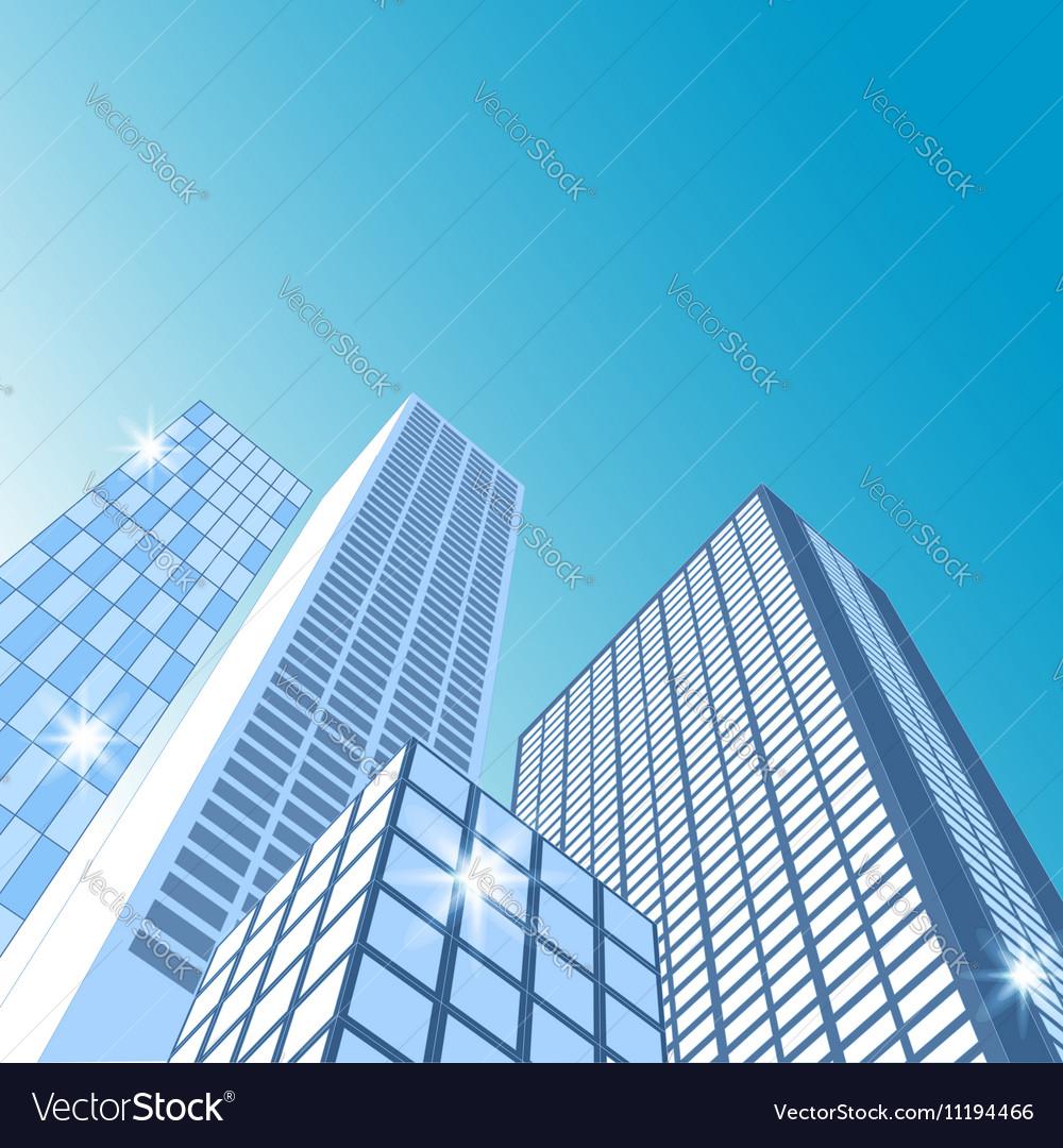 Modern cityscape City skyline vector image