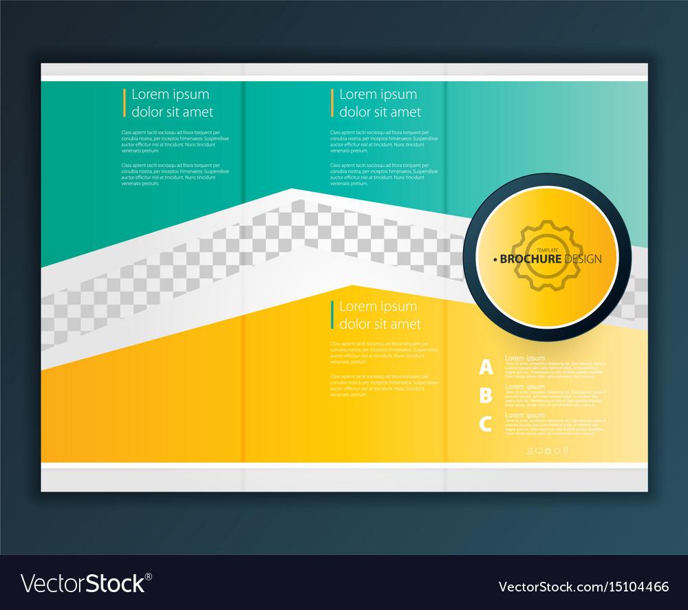 Modern Trifold Brochure Design Template Vector Image - Tri fold brochure design templates