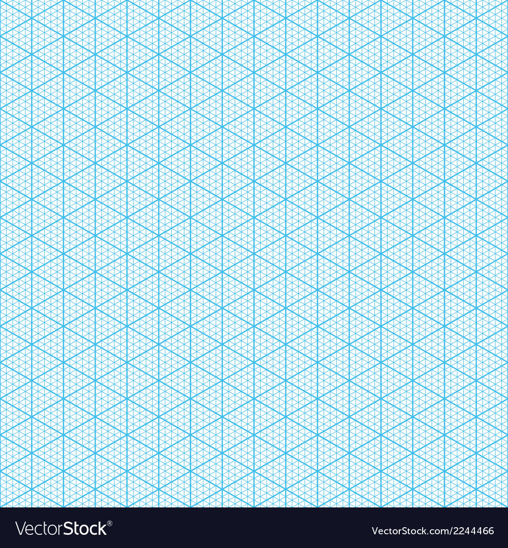 Seamless Isometric Graph Paper Vector Image
