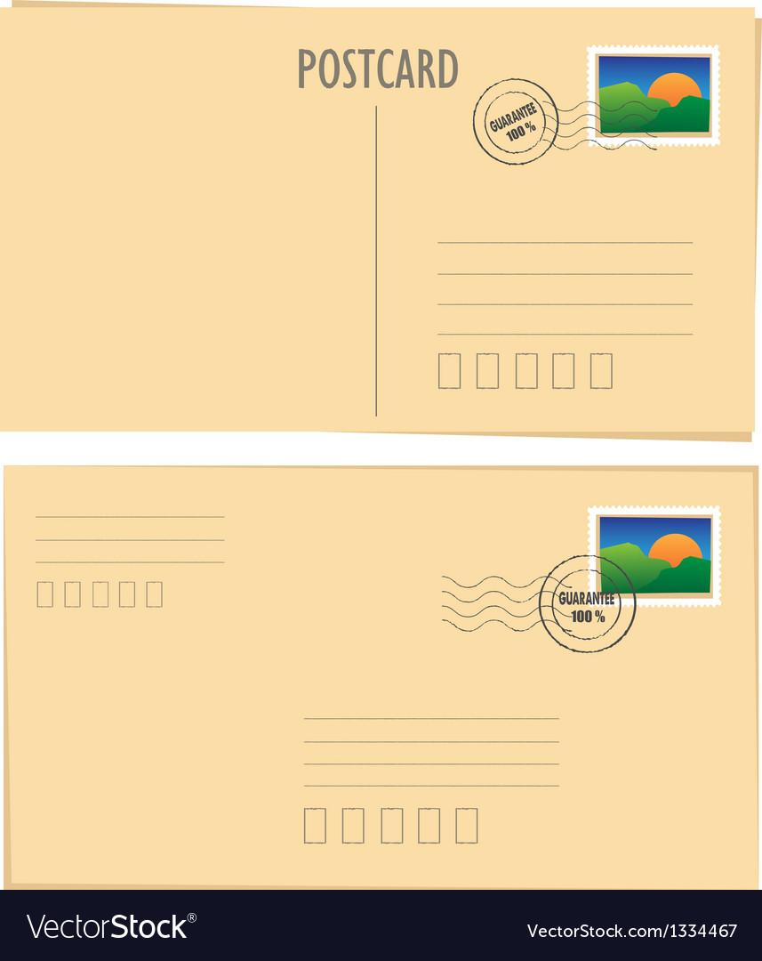 Postcard vector image