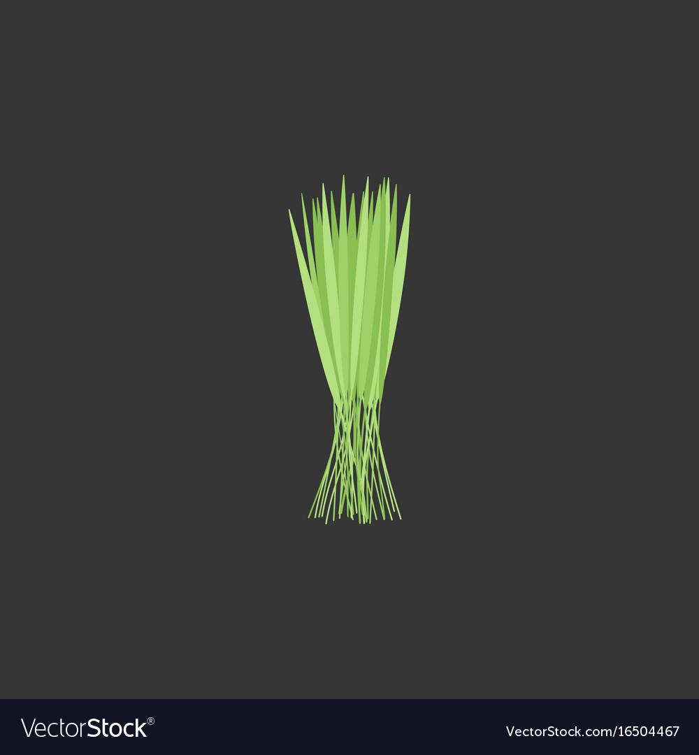 Rice bundle flat icon vector image
