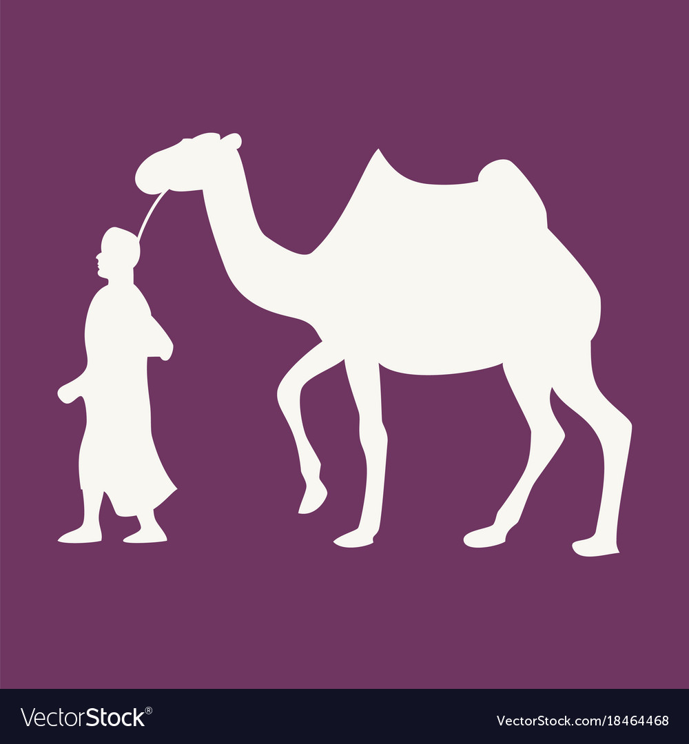 Flat icon on theme arabic business bedouin with a