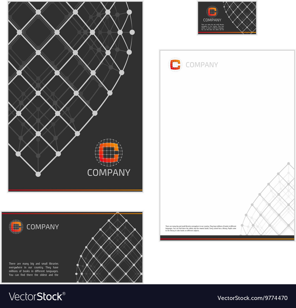 Corporate style template grid Royalty Free Vector Image